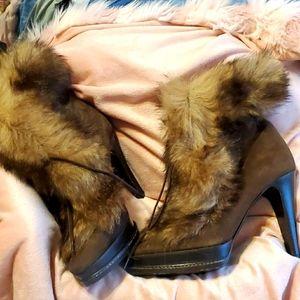 NWOT Ralph Lauren Collection Fur Boot